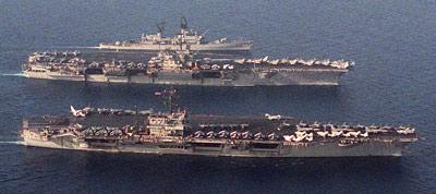 USS JFK and USS Saratoga