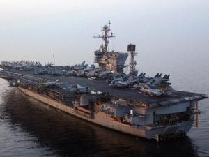 USS JFK at Sea