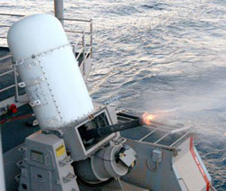 USS JFK was armed with two 20mm Phalanx MK15 CIWS