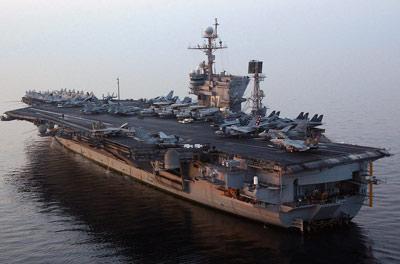 USS John F. Kennedy at sea in 2004