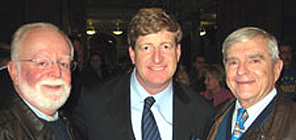 (L-R) Project Secretary William Sheridan, Congressman Patrick Kennedy, Project President Frank Lennon